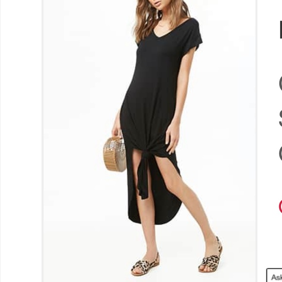Forever 21 Dresses & Skirts - Knotted T-shirt Dress